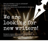 Seeking New Writers!