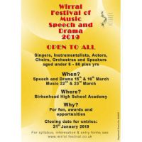 Take Part In The 70th Wirral Festival Of Music, Speech And Drama March 2019